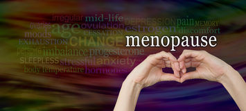 Take a look at the signs and symptoms of menopause Royalty Free Stock Photography