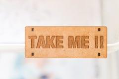 Take me sign Stock Image
