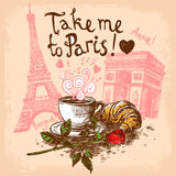 Take me to paris concept Stock Photo