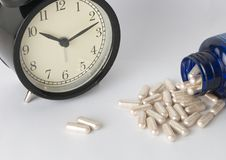 Take a medication on time.  royalty free stock photo