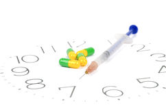 Take medicine on time Stock Photo