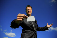 Take my card 2 Stock Photo