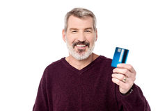 Take my cash card ! Stock Image