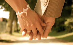 Take my hand. This photo was taken at a wedding reportage Royalty Free Stock Images