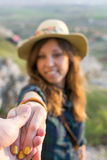 Take my hand Stock Photography