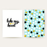 Take My Heart Hipster Posters Royalty Free Stock Photography
