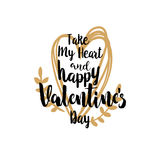 Take my heart and Valentines greetings Royalty Free Stock Photography