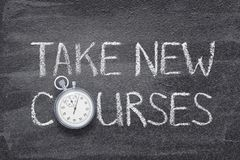 Take new courses watch stock photography