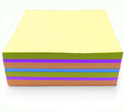 Take Notes!. Blank Post-it papers stock photo