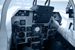 At take off. Inside the flight deck during take-off Stock Images