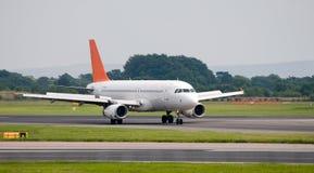 Take Off. An aeroplane getting ready to take off Stock Image