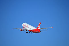 Take Off For Air Berlin Flight Royalty Free Stock Image
