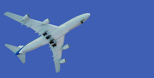 Take off of the aircraft. With clipping path Royalty Free Stock Photos