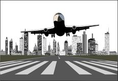 Take off airplane Royalty Free Stock Photo