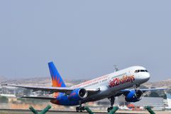 Jet2 holidays plane Airport Taking Off Stock Images