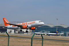 Aircraft Take Off from Alicante - Easyjet Boeing Plane Aircraft Flight Royalty Free Stock Photo