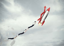 Take-off business success. 3D Rendering Royalty Free Stock Photography