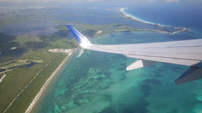 Take off from Cancun airport Royalty Free Stock Photos