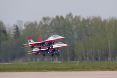 Take-off group MIG-29 Stock Photography