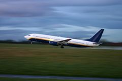 Take off - motion blur Royalty Free Stock Photography
