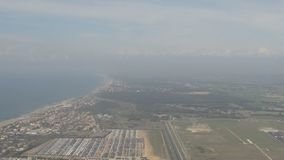 Take-off over the Mediterranean sea stock video footage