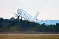 Take off passenger aircraft. Incredible take off passenger aircraft royalty free stock photos