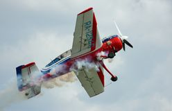 Take off the sports-flight plane Yak-54 Stock Image
