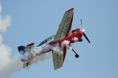 Take off the sports-flight plane Yak-54 Royalty Free Stock Photos