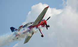 Take off the sports-flight plane Yak-54 Stock Photo