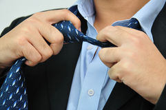 Take off tie, after working hour concept Royalty Free Stock Photos