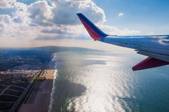 Take off west from LAX Royalty Free Stock Images