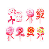 Take one candy watercolor vector elements Stock Photography