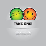 Take one smile. Funny greeting card in Vector Format Stock Photography