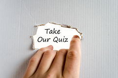 Take our quiz text concept Stock Images