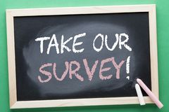 Take Our Survey Concept stock images