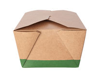 Take-Out Box (with clipping path) Stock Photo
