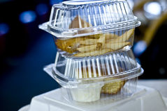 Take-out boxes Royalty Free Stock Images