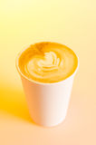 Take-out cappuccino Royalty Free Stock Photos