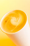 Take-out cappuccino Royalty Free Stock Images