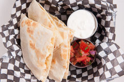 take out chicken quesadilla Stock Photography