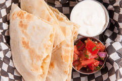 take out chicken quesadilla Stock Photos