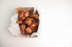 Take out chicken wings. Take away or take out bbq chicken wings for food truck style Stock Photography