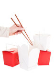 Take-out chinês fotos de stock royalty free