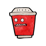 Take out coffee cartoon character Stock Photography