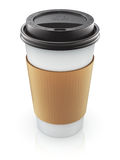 Take-out coffee in thermo cup Royalty Free Stock Images