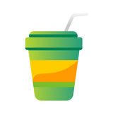 Take out drink cup vector illustration. Royalty Free Stock Photo