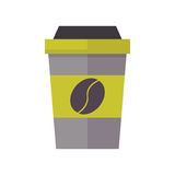Take out drink cup vector illustration. Royalty Free Stock Image