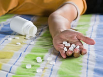 Take an overdose Stock Photography