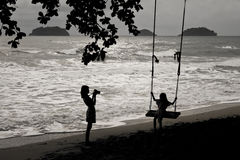 Take a photo. July 16, 2011 journey to Siam Beach hotel, Kohchang Tropical Island, Thailand Stock Photos