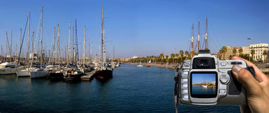 Take a photo of barcelona Stock Photography